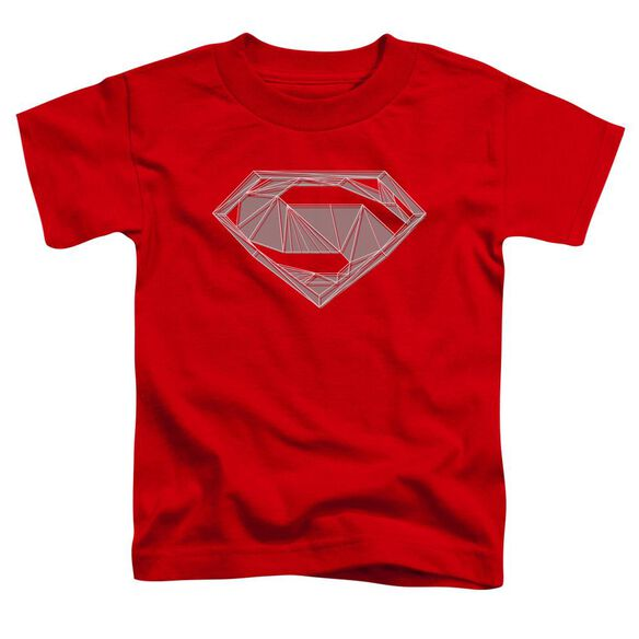 Batman V Superman Techy S Short Sleeve Toddler Tee Red T-Shirt