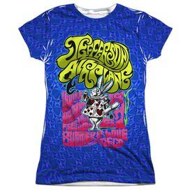 Jefferson Airplane Rabbit Short Sleeve Junior Poly Crew T-Shirt