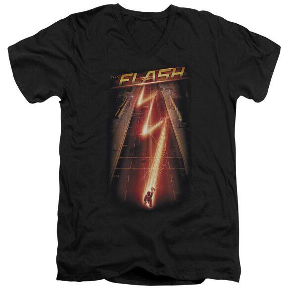 The Flash Flash Ave Short Sleeve Adult V Neck T-Shirt