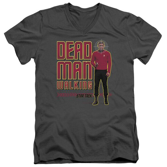 Star Trek Dead Man Walking Short Sleeve Adult V Neck T-Shirt