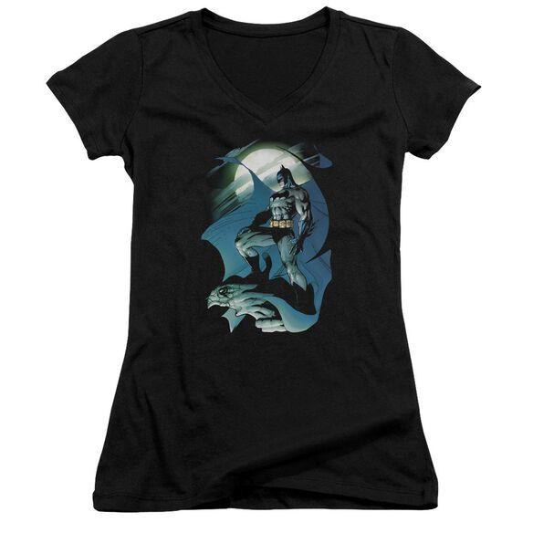 Batman Glow Of The Moon Junior V Neck T-Shirt