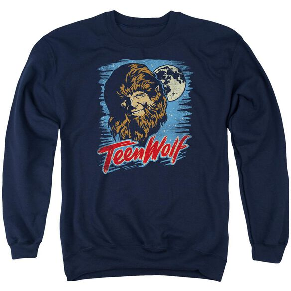 Teen Wolf Moon Wolf Adult Crewneck Sweatshirt