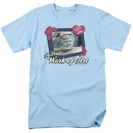 I LOVE LUCY WORK OF ART - S/S ADULT 18/1 - LIGHT BLUE T-Shirt