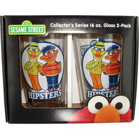Sesame Street Hipsters Pint Glass Set