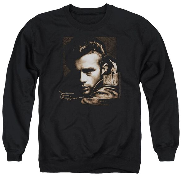 Dean Brown Leather Adult Crewneck Sweatshirt