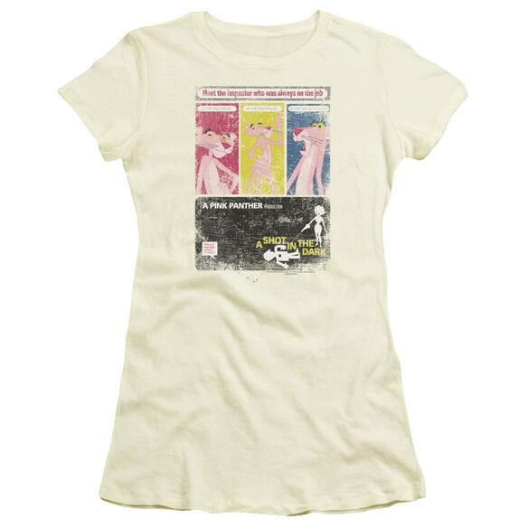 Pink Panther Shot In The Dark Short Sleeve Junior Sheer T-Shirt