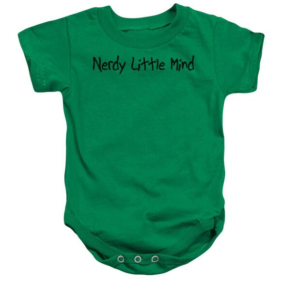 Nerdy Little Mind Infant Snapsuit Kelly Green Md