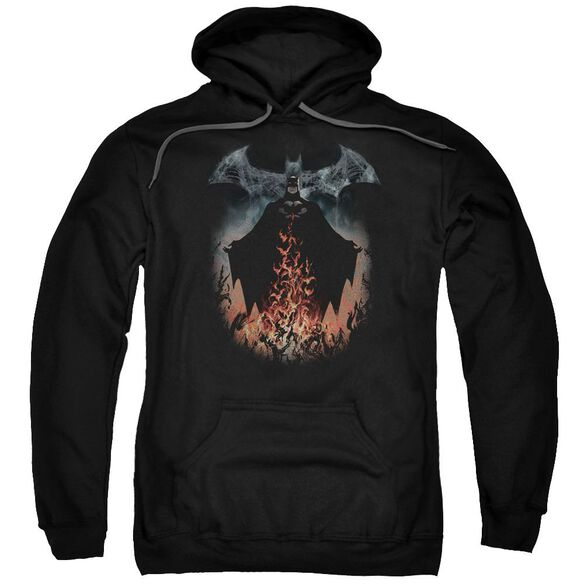 Batman Smoke & Fire Adult Pull Over Hoodie