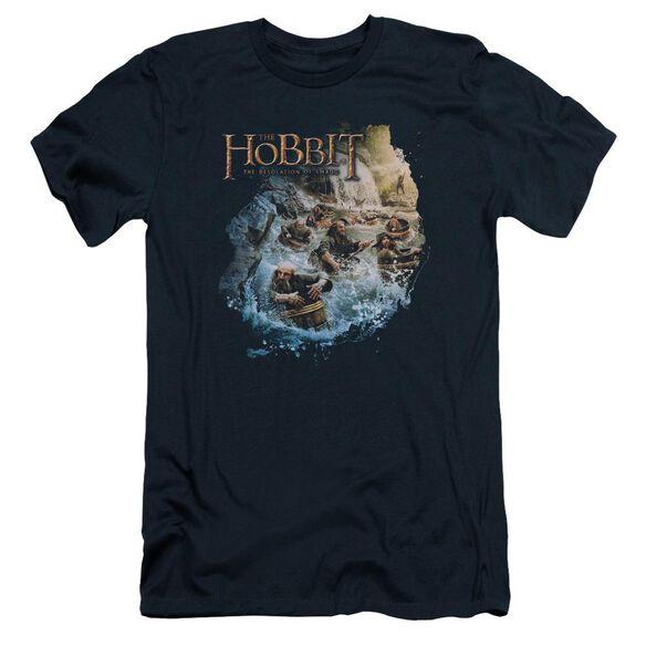 Hobbit Barreling Down Short Sleeve Adult T-Shirt
