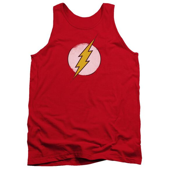 Dc Flash Rough Flash Logo Adult Tank