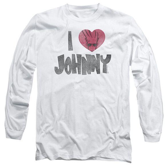 Johnny Bravo I Heart Johnny Long Sleeve Adult T-Shirt