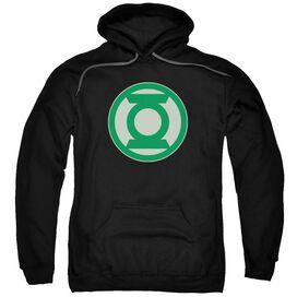 Green Lantern Green Symbol Adult Pull Over Hoodie