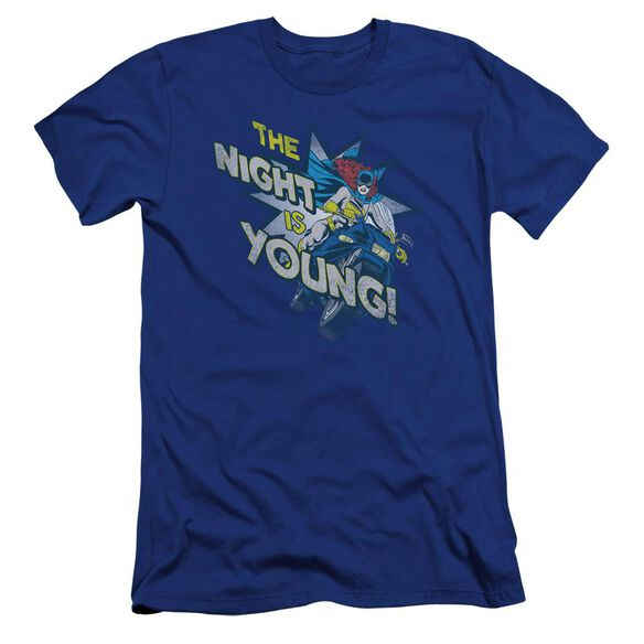 Dc The Night Is Young Premuim Canvas Adult Slim Fit Royal