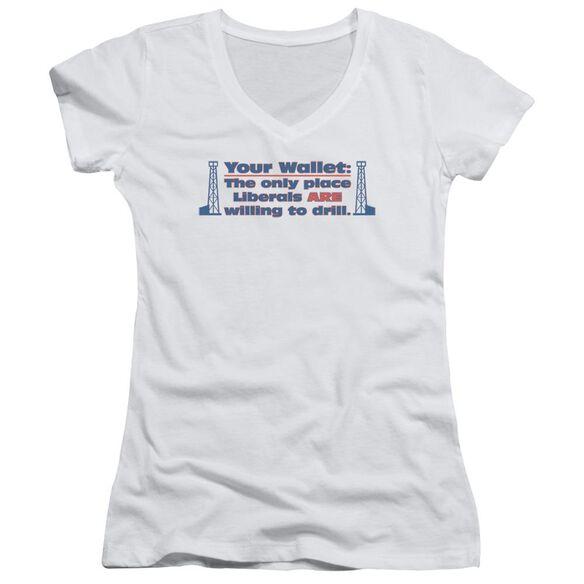 Your Wallet Junior V Neck T-Shirt