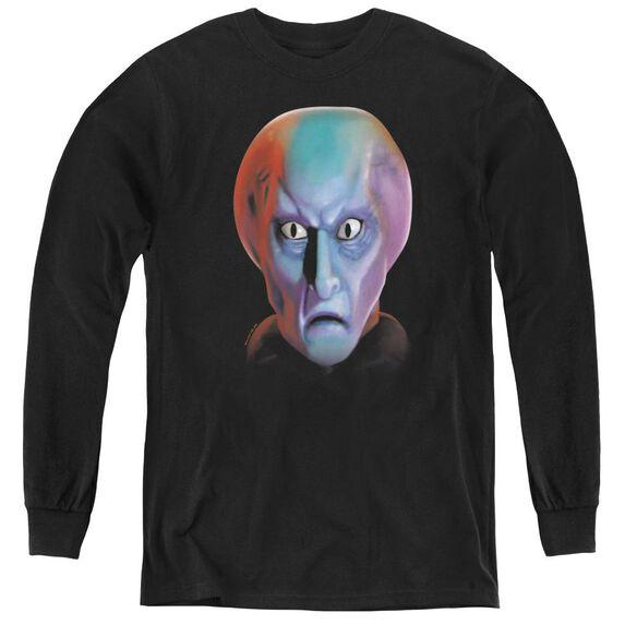 Star Trek Balok Head - Youth Long Sleeve Tee - Black