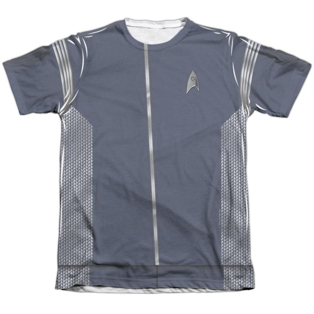 Star Trek Discovery Science Uniform Adult Poly Cotton Short Sleeve Tee T- Shirt 0871c658c