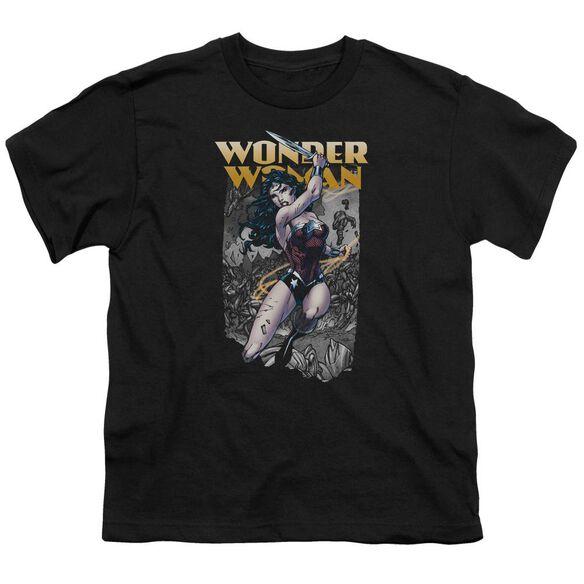 Jla Wonder Slice Short Sleeve Youth T-Shirt