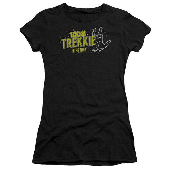Star Trek Trekkie Short Sleeve Junior Sheer T-Shirt