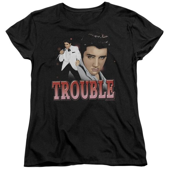 Elvis Presley Trouble Short Sleeve Womens Tee T-Shirt