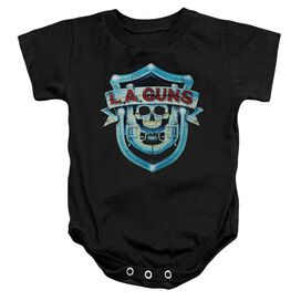 La Guns La Guns Shield Infant Snapsuit Black