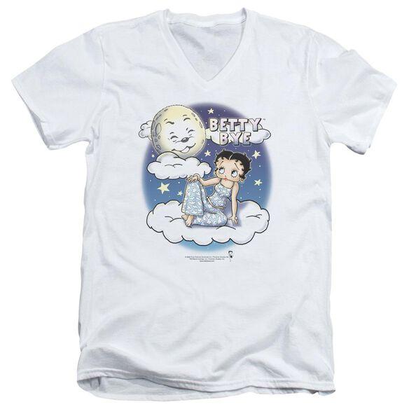 Betty Boop Betty Bye Short Sleeve Adult V Neck T-Shirt
