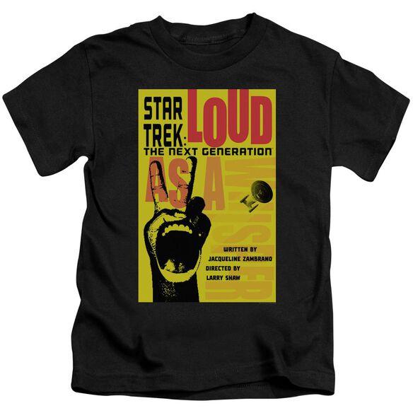 Star Trek Tng Season 2 Episode 5 Short Sleeve Juvenile Black T-Shirt