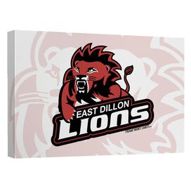 Friday Night Lights East Dillion Lions Canvas Wall Art With Back Board