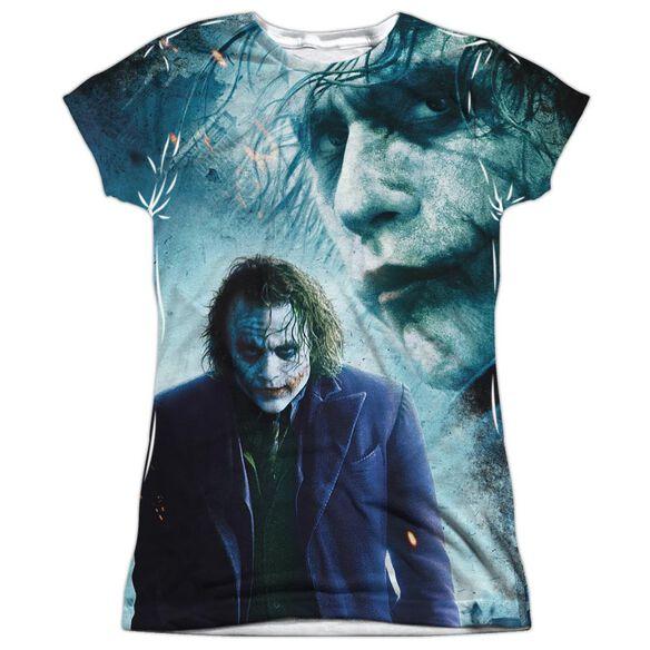 Dark Knight Gothams Chaos Short Sleeve Junior Poly Crew T-Shirt