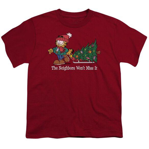Garfield Won't Miss It Short Sleeve Youth T-Shirt