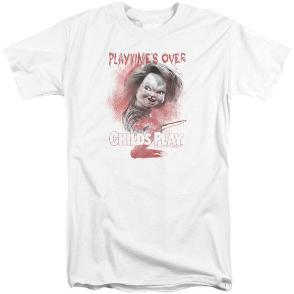 Childs Play Playtimes Over Short Sleeve Adult Tall T-Shirt
