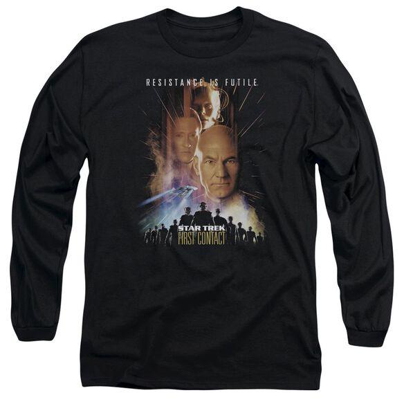 Star Trek First Contact(Movie) Long Sleeve Adult T-Shirt