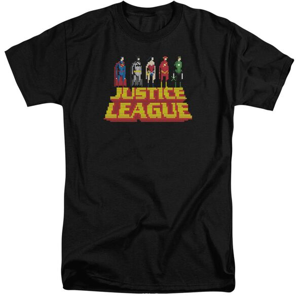 Jla Standing Above Short Sleeve Adult Tall T-Shirt