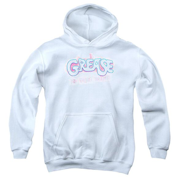 Grease Grease Is The Word Youth Pull Over Hoodie