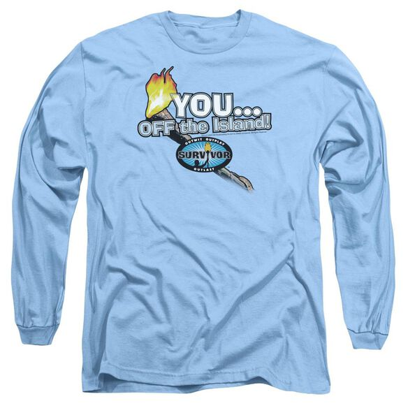 Survivor You Off The Island Long Sleeve Adult Carolina T-Shirt