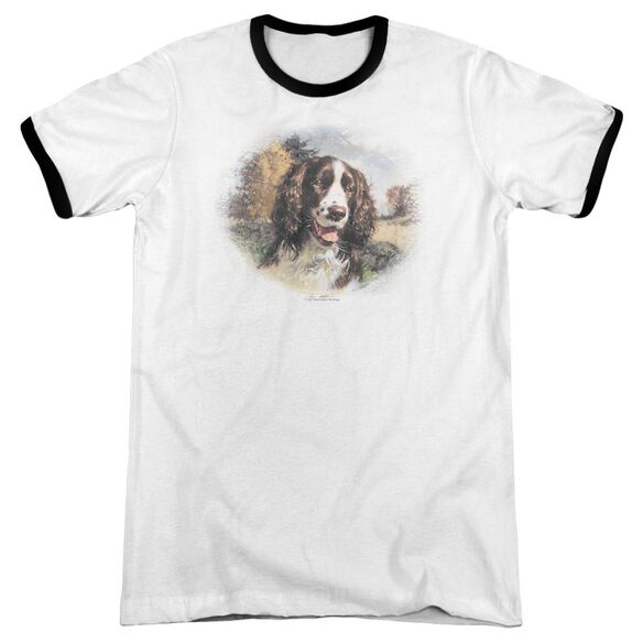Wildlife Springer Spaniel Head Adult Ringer White Black
