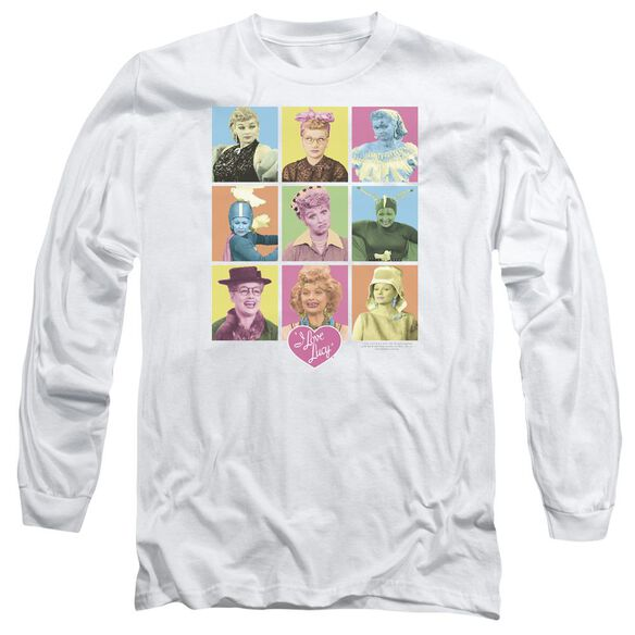 I Love Lucy So Many Faces Long Sleeve Adult T-Shirt