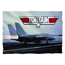 Top Gun Take Off (Front Back Print) Pillow Case White