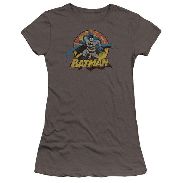 Jla Batman Rough Distress Premium Bella Junior Sheer Jersey