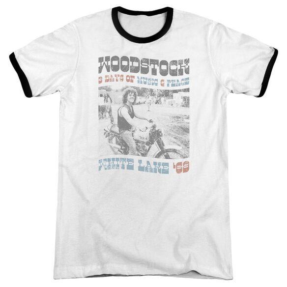 Woodstock Rider Adult Ringer White Black