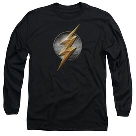 Justice League Movie Flash Logo Long Sleeve Adult T-Shirt