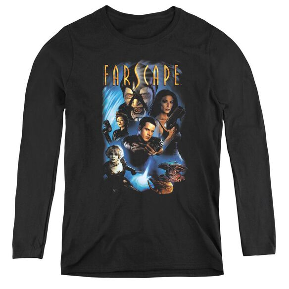 Farscape Comic Cover - Womens Long Sleeve Tee - Black