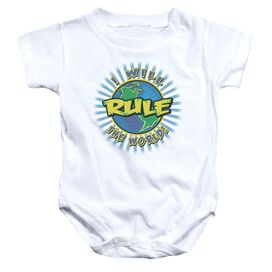 Rule The World - Infant Snapsuit - White - Md