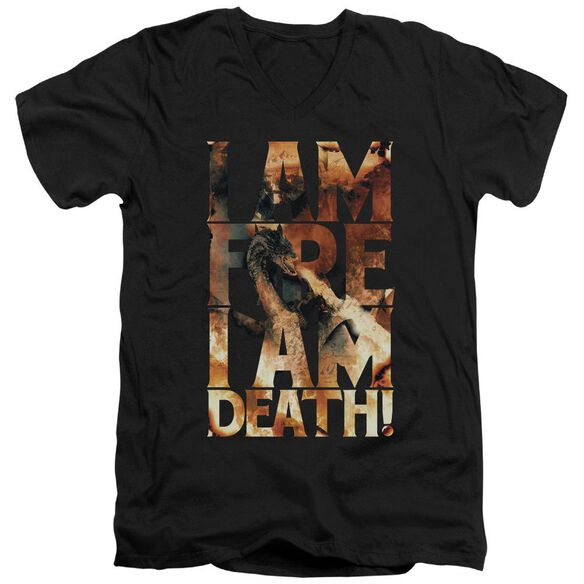 Hobbit I Am Fire Short Sleeve Adult V Neck T-Shirt