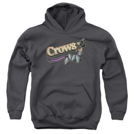 Tootise Roll Crows-youth Pull-over Hoodie - Charcoal