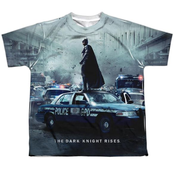 Dark Knight Rises Standoff Short Sleeve Youth Poly Crew T-Shirt