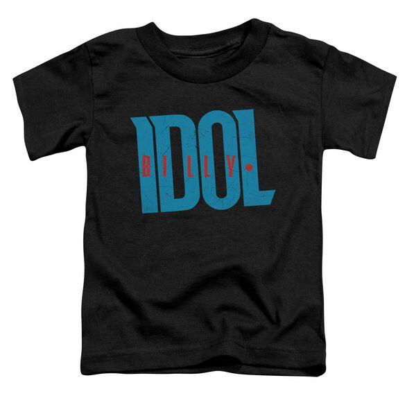 Billy Idol Logo Short Sleeve Toddler Tee Black T-Shirt