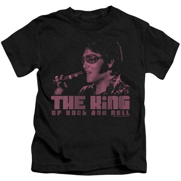 Elvis The King Short Sleeve Juvenile Black T-Shirt
