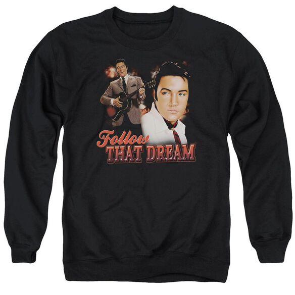 Elvis Presley Follow That Dream - Adult Crewneck Sweatshirt - Black