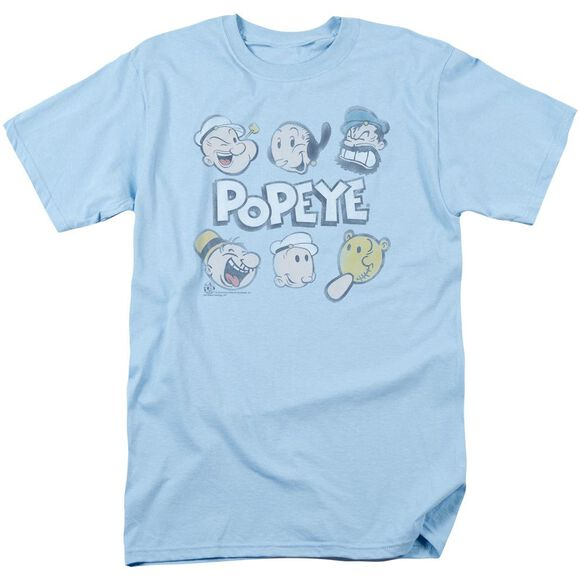 Popeye Heads Up Short Sleeve Adult Light T-Shirt