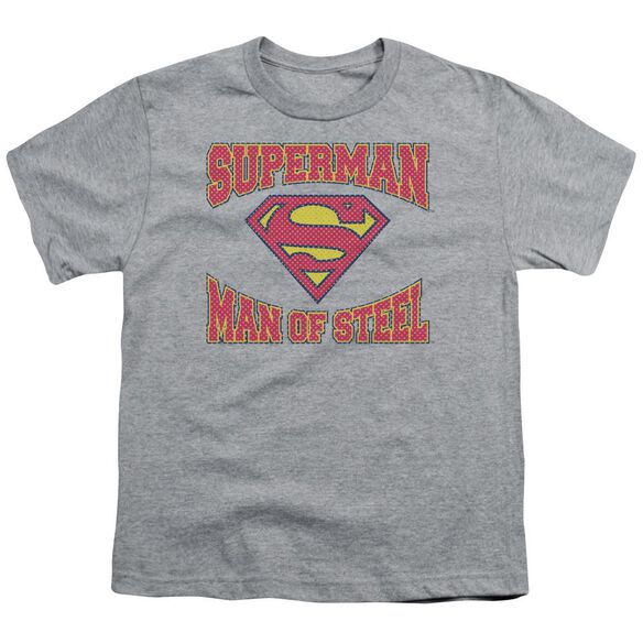 Superman Man Of Steel Jersey Short Sleeve Youth Athletic T-Shirt